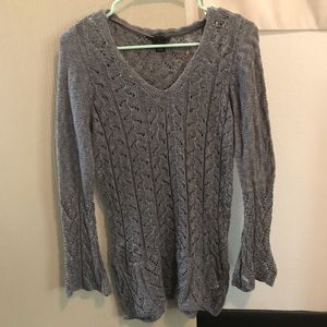 Gray crotchet sweater
